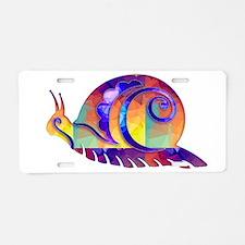 Polygon Mosaic Snail Multic Aluminum License Plate