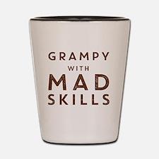 Grampy with Mad Skills Shot Glass