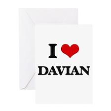 I Love Davian Greeting Cards
