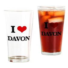 I Love Davon Drinking Glass