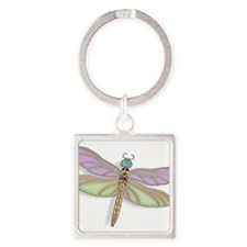 Lavender and Green Dragonfly Keychains