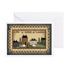 Live Love Laugh Greeting Cards (Pk of 10)
