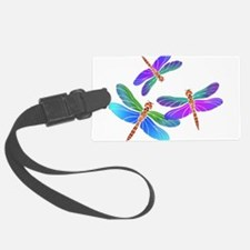 Dive Bombing Iridescent Dragonfl Luggage Tag