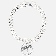 Metallic Silver Dragonfl Bracelet