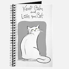 Keep Calm-White Journal