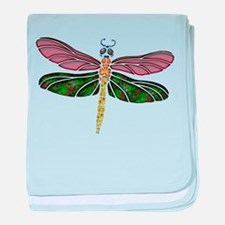 sTAINED gLASS Dragonfly baby blanket