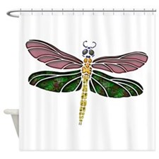 sTAINED gLASS Dragonfly Shower Curtain