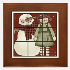 Tic-Tac-Toe 4 Framed Tile
