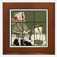 Tic-Tac-Toe 5 Framed Tile
