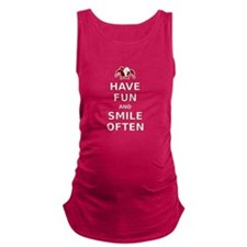 Have Fun Smile Often Maternity Tank Top