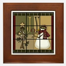 Tic-Tac-Toe 9 Framed Tile