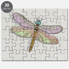 Lavender and Light Green Dragonfly Puzzle