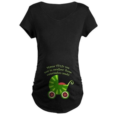 Watermelon Seeds Maternity Dark T-Shirt