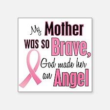 "Cute Mom breast cancer Square Sticker 3"" x 3"""