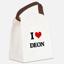 I Love Deon Canvas Lunch Bag