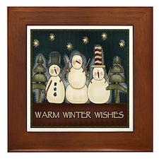 Warm Winter Wishes Framed Tile