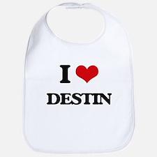 I Love Destin Bib