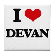 I Love Devan Tile Coaster