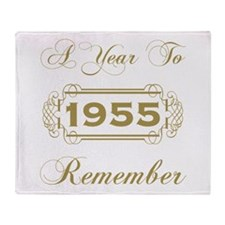 1955 A Year To Remember Throw Blanket