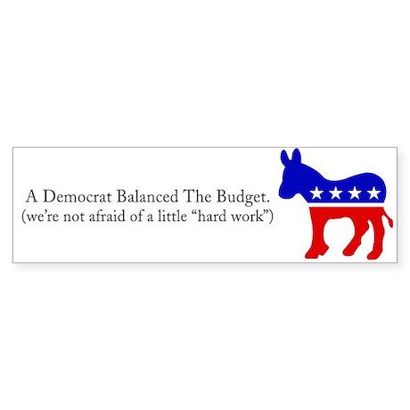 Democrats - Just Getting Warmed Up Sticker (Bumper