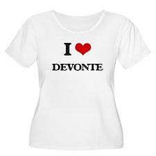 I Love Devonte Plus Size T-Shirt