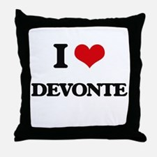 I Love Devonte Throw Pillow