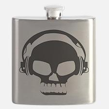 Dj Dubstep Skull Headphones Dead Music Skele Flask