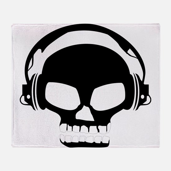 Dj Dubstep Skull Headphones Dead Mus Throw Blanket
