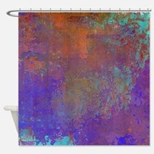 Abstract in Blue, Aqua, Purple, Rus Shower Curtain