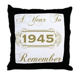 70th birthday Throw Pillows