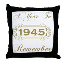1945 A Year To Remember Throw Pillow