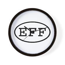 EFF Oval Wall Clock