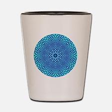 Blue Zen Mandala Shot Glass