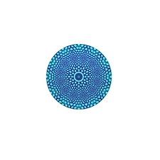 Blue Zen Mandala Mini Button