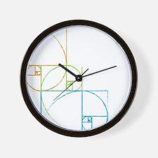 Fibonacci Spirals Wall Clock