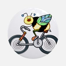 Bee on a Bike Ornament (Round)
