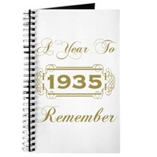1935 A Year To Remember Journal