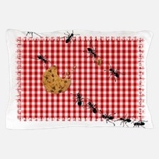 Ant Picnic on Red Checkered Cloth Pillow Case