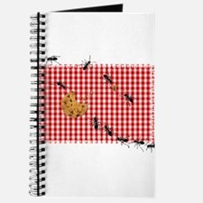 Ant Picnic on Red Checkered Cloth Journal
