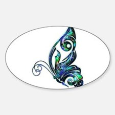 Abalone Shell Art Deco Butterfly Bumper Stickers