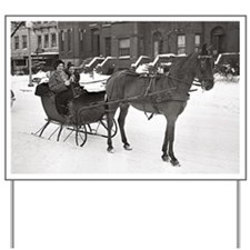 Horse and Sleigh, 1935 Yard Sign