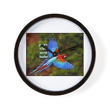 Parrot Teacher Wall Clock