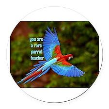 Parrot Teacher Round Car Magnet