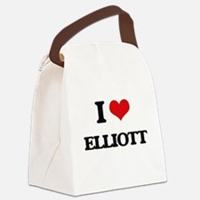I Love Elliott Canvas Lunch Bag