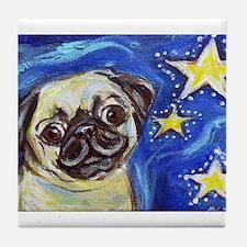 Pug Stars 2 Tile Coaster
