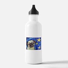 Pug Stars 2 Water Bottle
