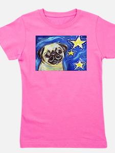 Pug Stars 2 Girl's Tee