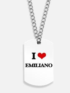 I Love Emiliano Dog Tags