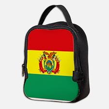 Bolivia flag Neoprene Lunch Bag