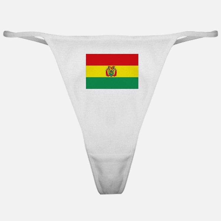 Bolivia flag Classic Thong